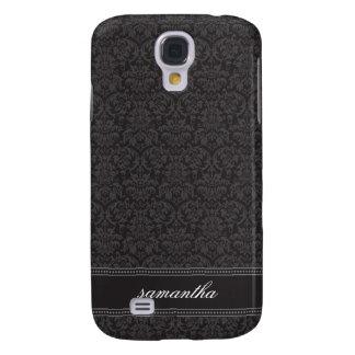 Damasco Pern (preto) Capa Samsung Galaxy S4