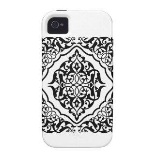 Damasco preto e branco capinhas para iPhone 4/4S