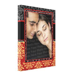 Damasco romântico para o retrato de casamento Ultr