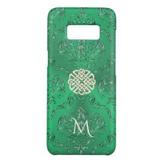 Damasco verde irlandês com nó do céltico do ouro capa Case-Mate samsung galaxy s8