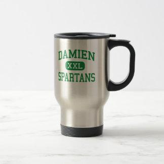 Damien - Spartans - altos - La Verne Califórnia Caneca