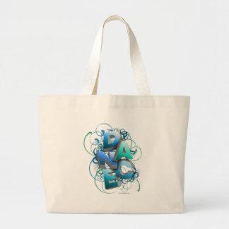dança 3D (primavera) Bolsas Para Compras