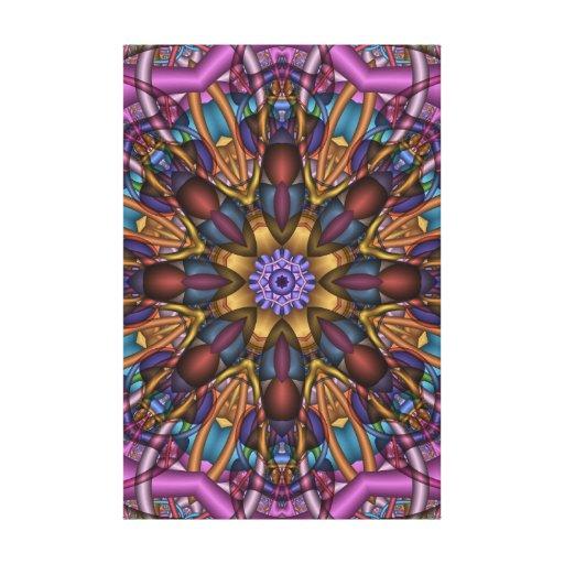 Dança abstrata da borboleta das canvas do caleidos impressão de canvas envolvida