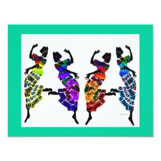 Dança africana do pé convite 10.79 x 13.97cm