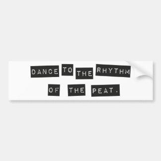 Dança ao ritmo da turfa adesivo de para-choque