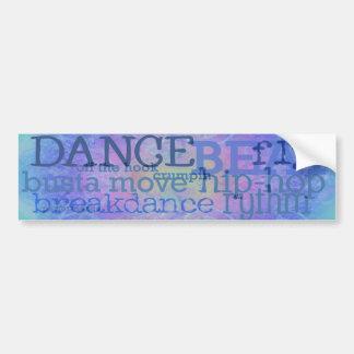 Dança - autocolante no vidro traseiro dos azuis de adesivo