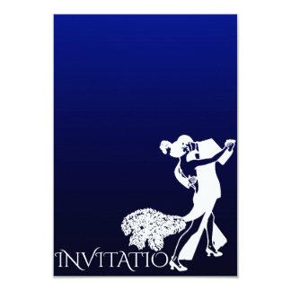 Dança clássica Ombre marinho azul do tango Convite 8.89 X 12.7cm