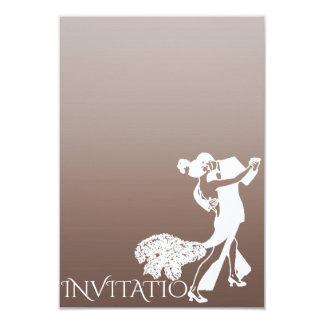 Dança clássica Ombre Pastel castanho chocolate do Convite 8.89 X 12.7cm