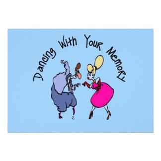 Dança com memórias convites personalizados