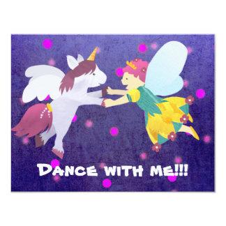 Dança comigo!!! Convite feericamente! Convite 10.79 X 13.97cm