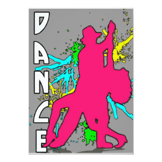 Dança Convite 12.7 X 17.78cm