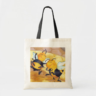 Dança da abelha do mel/orçamento Totebag Bolsas De Lona