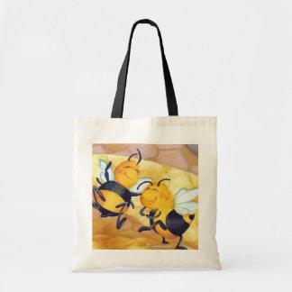 Dança da abelha do mel/sacola do mantimento bolsas de lona