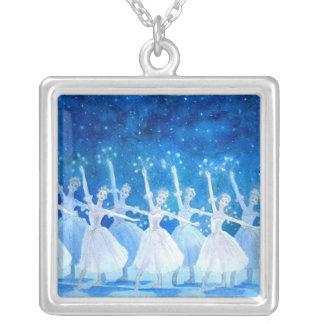 Dança da colar do pendente dos flocos de neve