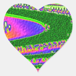 Dança da colheita do arco-íris de STBX Adesivo Coração