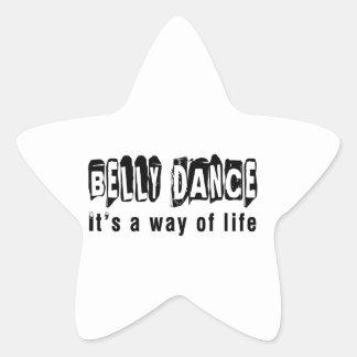 Dança da dança do ventre é um modo de vida adesivo estrela