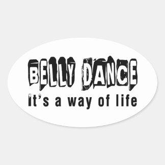 Dança da dança do ventre é um modo de vida adesivos ovais