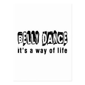 Dança da dança do ventre é um modo de vida cartão postal