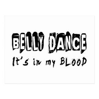Dança da dança do ventre está em meu sangue cartão postal