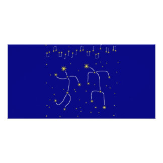 Dança da estrela cartao com fotos
