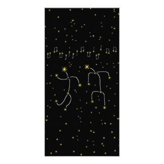 Dança da estrela cartão com foto personalizado