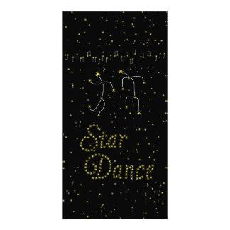 Dança da estrela cartões com foto