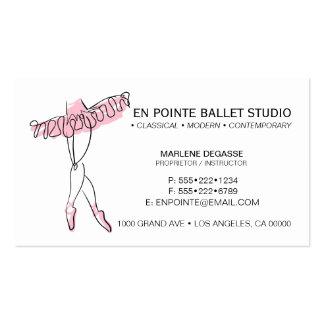 Dança da instrução da escola do balé cartão de visita