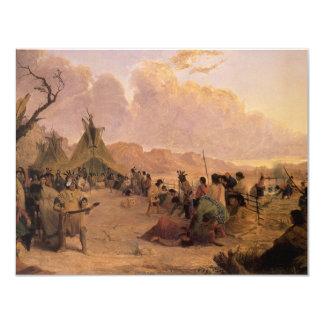 Dança da medicina por Eastman, nativo americano do Convites