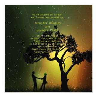dança da meia-noite Invition do casal do luar Convite Personalizado
