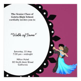 Dança da noite de baile de formatura convites