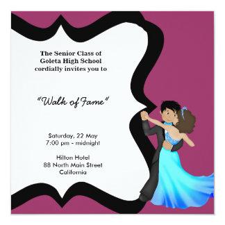 Dança da noite de baile de formatura convite personalizado
