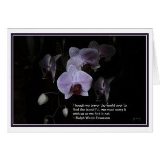 Dança da pétala: Cartão das citações de Emerson