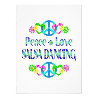 Dança da salsa do amor da paz convites