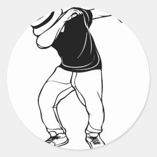 Dança da solha adesivo redondo