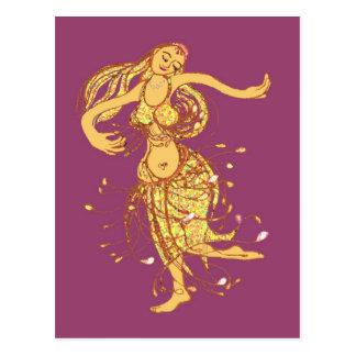 Dança de barriga cartoes postais