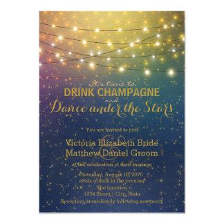 Dança de Champagne da bebida sob as estrelas que Convite 11.30 X 15.87cm