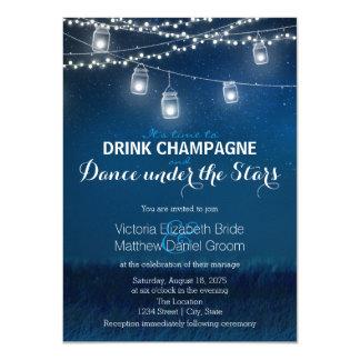 Dança de Champagne da bebida sob o frasco de Convite 11.30 X 15.87cm
