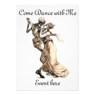 Dança de esqueleto comigo convite