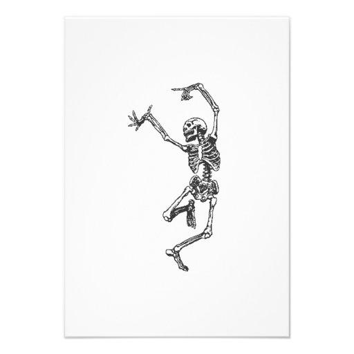 Dança de esqueleto do Dia das Bruxas Convite Personalizado