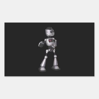 dança de intervalo mínimo da cara do robô da adesivo retangular