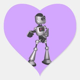 dança de intervalo mínimo da cara do robô da adesivo coração