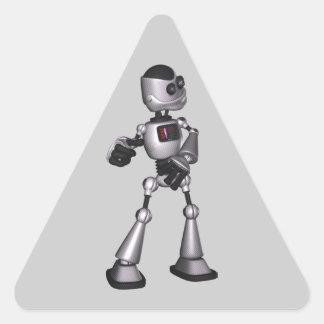 dança de intervalo mínimo da cara do robô da adesivo triangular