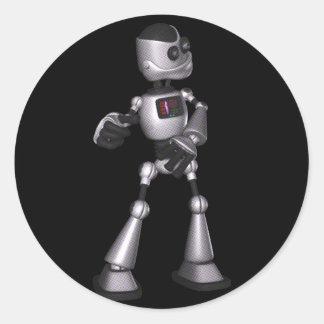 dança de intervalo mínimo da cara do robô da adesivo