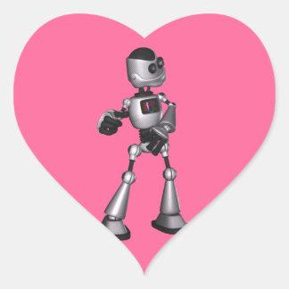 dança de intervalo mínimo da cara do robô da adesivos de corações