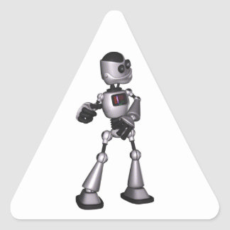 dança de intervalo mínimo da cara do robô da ficçã adesivo