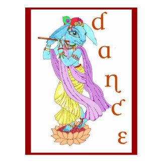 Dança de Krishna da lebre Cartão Postal