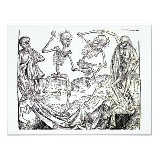 Dança de morte convite 10.79 x 13.97cm