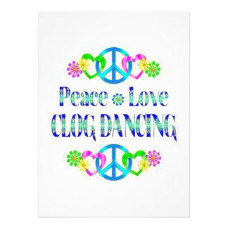 Dança de obstrução do amor da paz convites personalizado