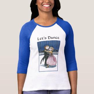 Dança de salão de baile camiseta
