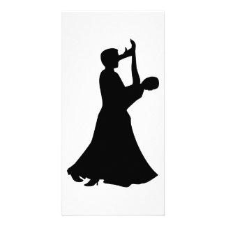 Dança de salão de baile cartão com foto personalizado